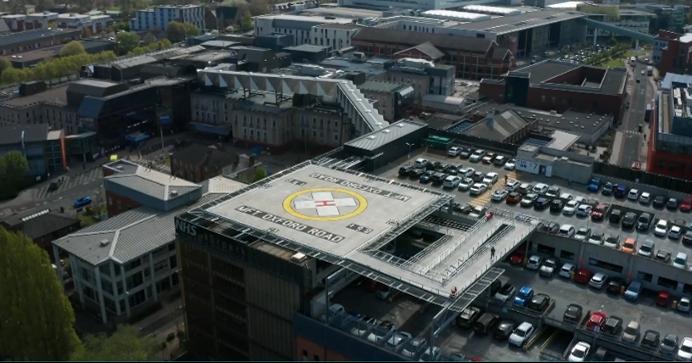 Manchester Royal Infirmary Helipad & Bridgelink